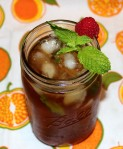Refreshing Peach & Mint Iced Tea