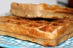 100% Whole Wheat Waffles. A Sunday Favorite.