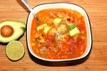 Chicken Fajita Soup & A Vegetarian Version